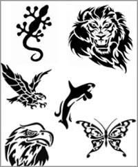 Schablonen - Tiere