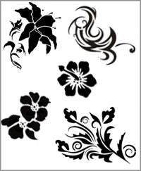 Schablonen - Blumen Ornamente