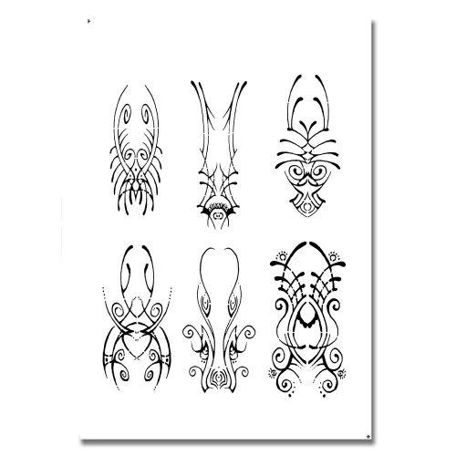 Airbrush Schablonen Tattoo 103