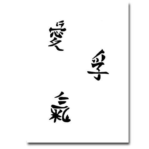 Airbrush Schablonen Chin. Zeichen