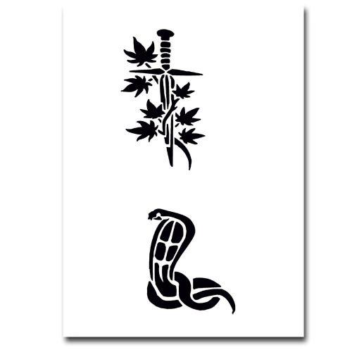 Airbrush Schablonen Tattoo 25