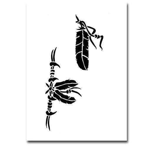 Airbrush Schablonen Tattoo 51