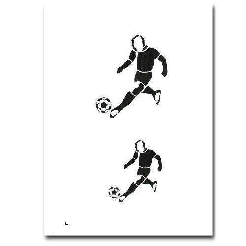 Airbrush Schablonen Fussballer