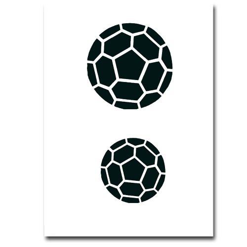 Airbrush Schablonen Fussball 1