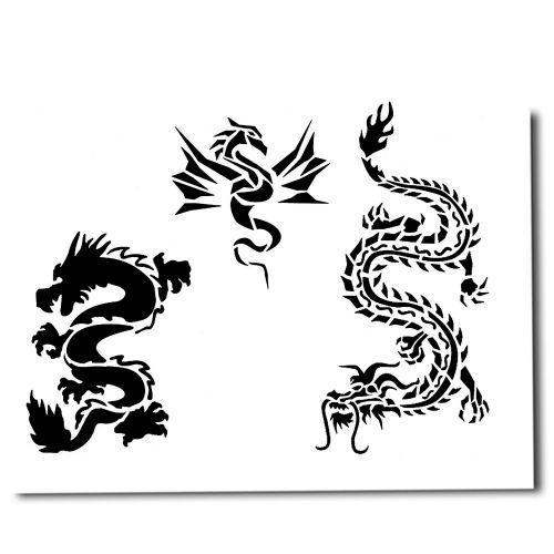 airbrush schablonen tattoo 218. Black Bedroom Furniture Sets. Home Design Ideas