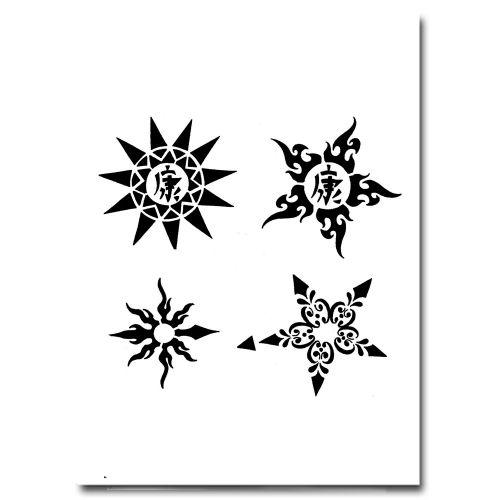 Airbrush Schablonen Tattoo 219