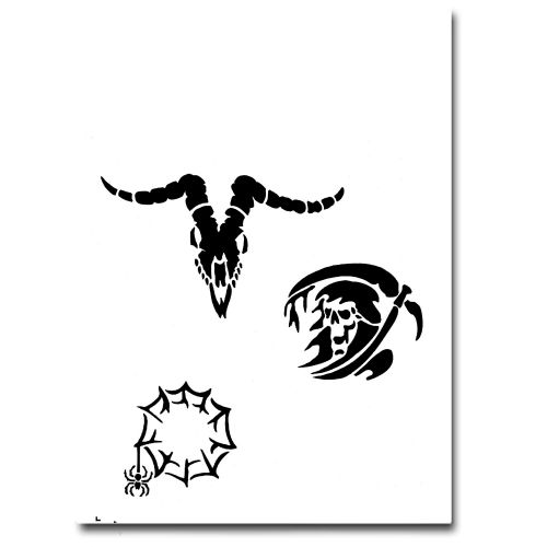 Airbrush Schablonen Tattoo 251