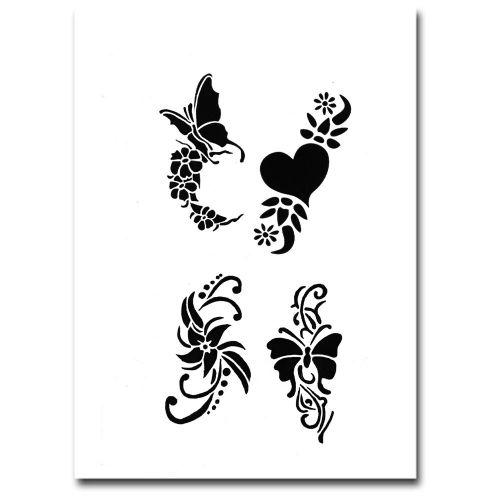Airbrush Schablonen Tattoo 254