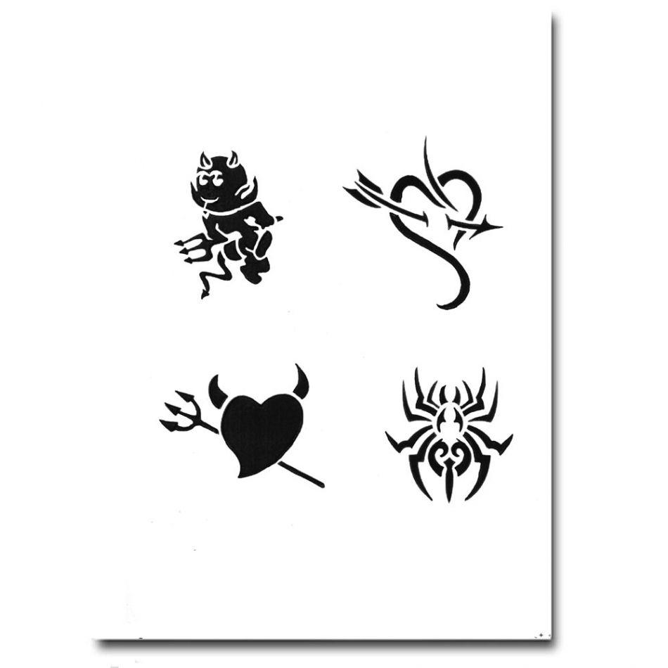 Airbrush Schablonen Tattoo 256