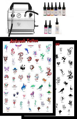 Airbrush Tattoo Profi Kids Komplettausstattung