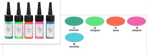 Airbrush Tattoo Color -30 ml - airbrush tattoo ink - F