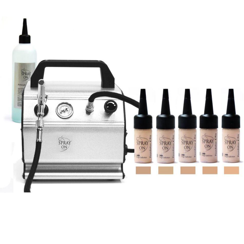 Airbrush Make-up Profi Komplettausstattung Aqua Jet
