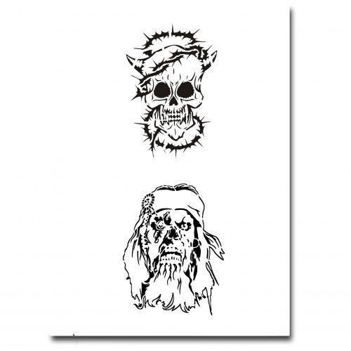 Airbrush Tattoo Schablone 303