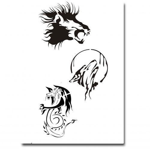 Airbrush Tattoo Schablone 306