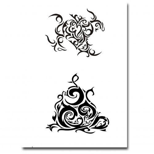 Airbrush Tattoo Schablone 310