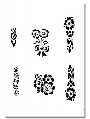 Airbrush Tattoo Schablone 319