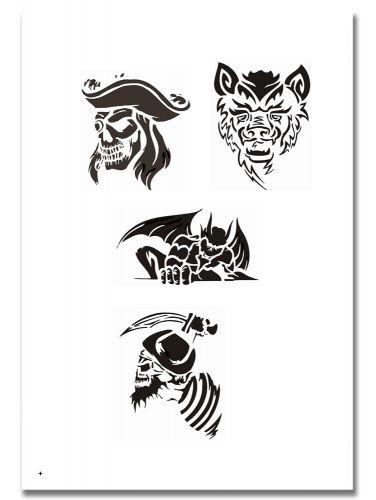 Airbrush Tattoo Schablone 313