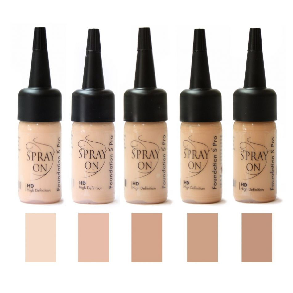 Airbrush Make-up Foundation Tester SET - beige - SILICONE BASE
