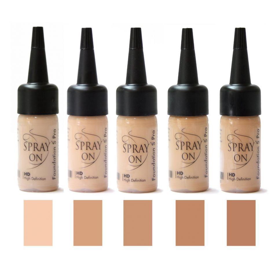 Airbrush Make-up Foundation Tester SET - olive- SILICONE BASE