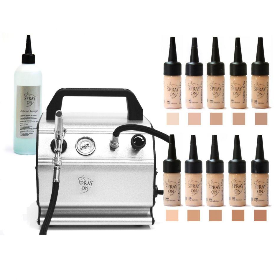 Airbrush Make-up Profi Komplettausstattung Silicone Jet