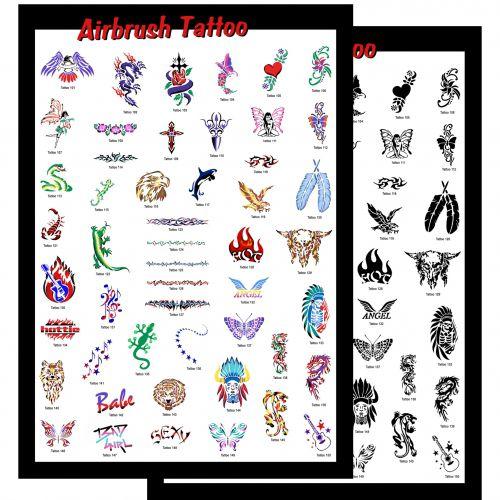Airbrush Schablonen Set Tattoo 2