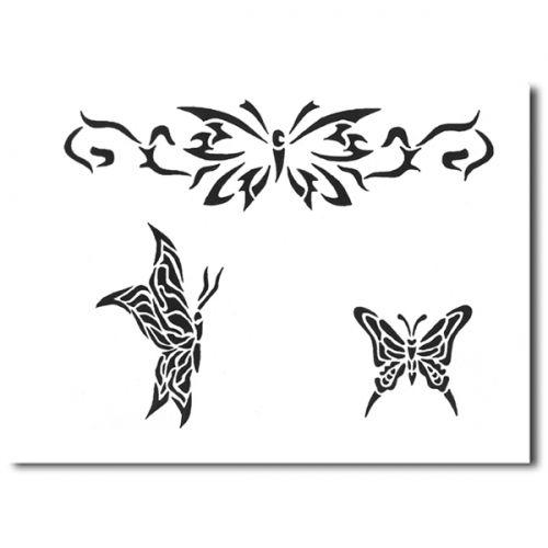 Airbrush Schablonen Tattoo 217