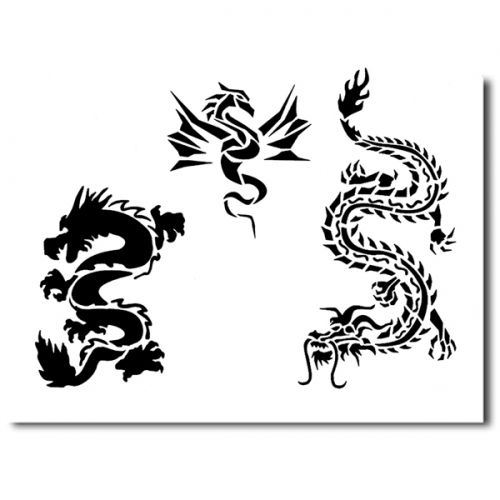 Airbrush Schablonen Tattoo 218