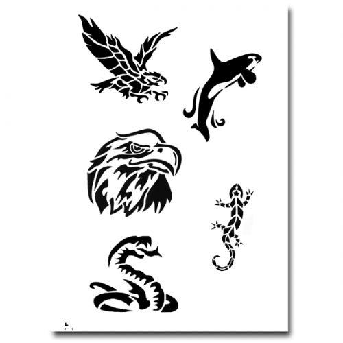 Airbrush Schablonen Tattoo 271