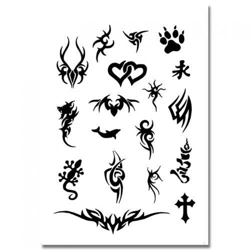 Airbrush Schablonen Tattoo 94
