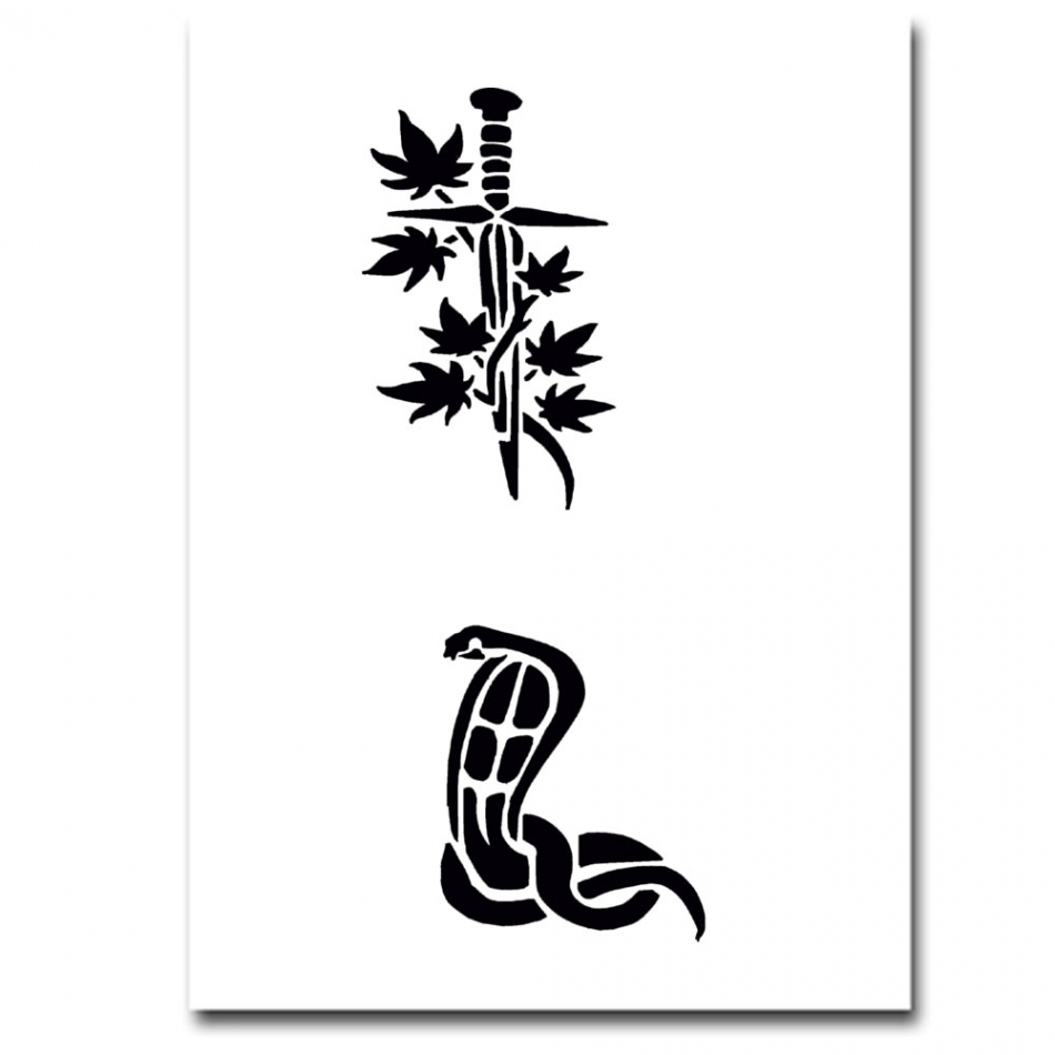 airbrush schablonen tattoo 25. Black Bedroom Furniture Sets. Home Design Ideas