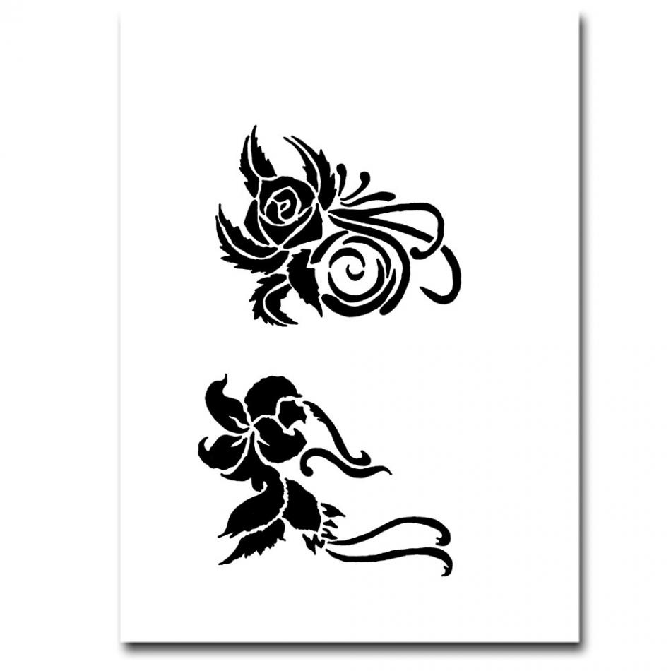 airbrush schablonen tattoo 49. Black Bedroom Furniture Sets. Home Design Ideas