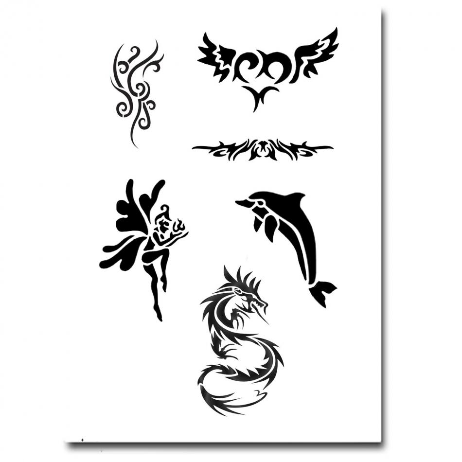 airbrush schablonen tattoo 277. Black Bedroom Furniture Sets. Home Design Ideas