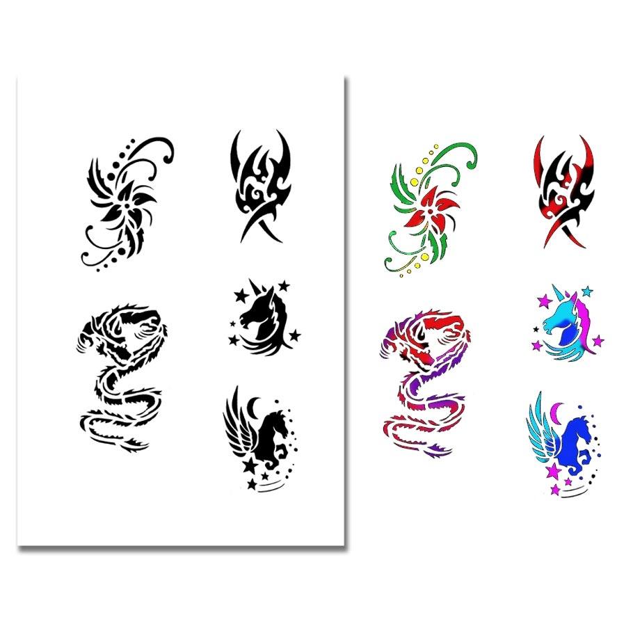 Airbrush Tattoo Stencil 323 - Airbrush Make up Airbrush Tattoo ...