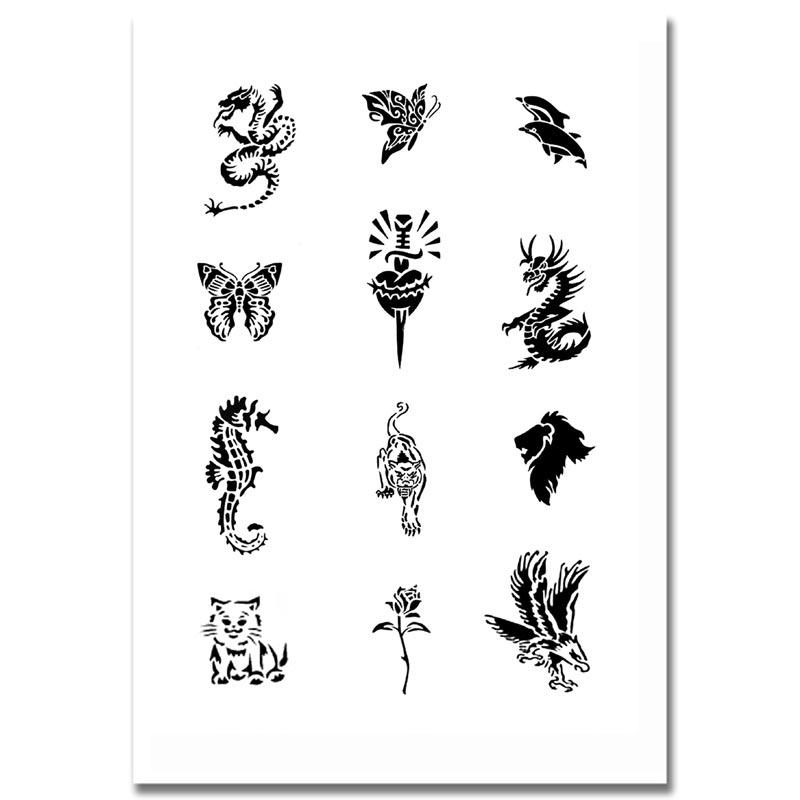 airbrush schablonen tattoo 93. Black Bedroom Furniture Sets. Home Design Ideas