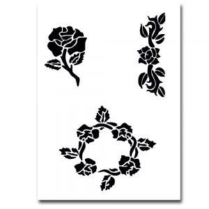 Airbrush Schablonen Blumen
