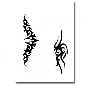 airbrush schablonen tattoo schablone mylar folie. Black Bedroom Furniture Sets. Home Design Ideas