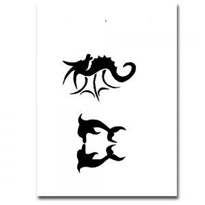 Airbrush Schablonen Tattoo 50