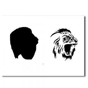 Airbrush Schablonen Löwe