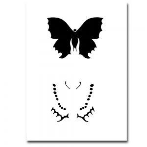 Airbrush Schablonen Schmetterling 1
