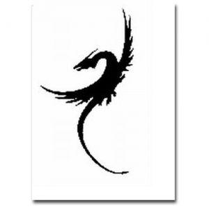 Airbrush Schablonen Drache