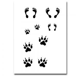 Airbrush Schablonen Füße, Pfoten