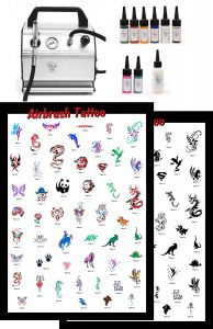 Airbrush Tattoo Equipment Professional Kids Complete