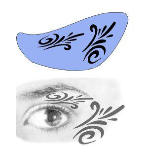 Airbrush Schablonen Eyeflash 15