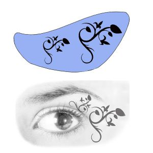 Airbrush Schablonen Eyeflash 16