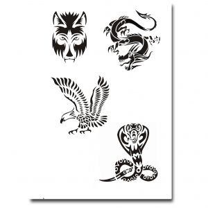 Airbrush Tattoo Stencil 305