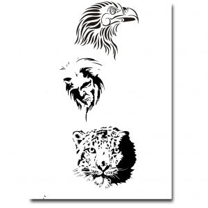 Airbrush Tattoo Stencil 307