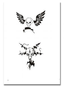 Airbrush Tattoo Schablone 314