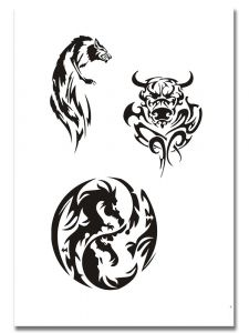Airbrush Tattoo Stencil 317