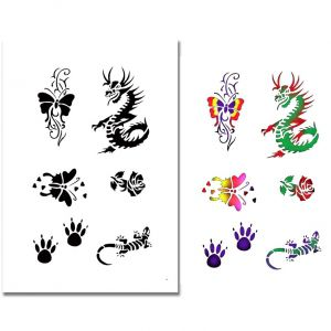 Airbrush Tattoo Schablone 324