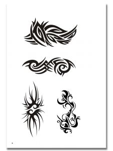 Airbrush Tattoo Schablone 309